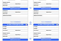 Id Card Template  In Case Of Emergency Cards  School  Id Card regarding In Case Of Emergency Card Template