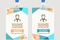 Id Card Template Plastic Badge within Conference Id Card Template
