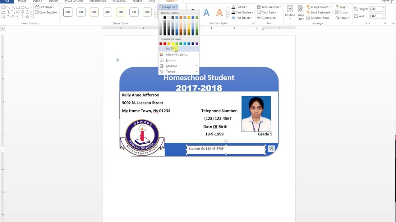 Id Card Template Word Maxresdefault Fantastic Ideas Child With Id Card Template For Microsoft Word