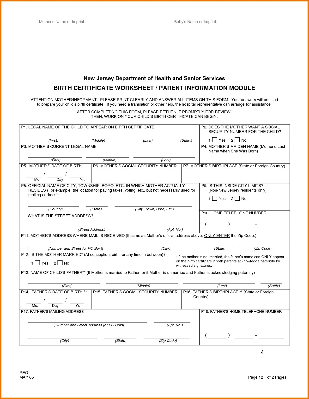 Ideas Collection For Official Blank Birth Certificate Template With Within Official Birth Certificate Template