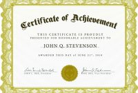 Ideas For Certificate Of Excellence Template Word Of Your Service intended for Certificate Of Excellence Template Word