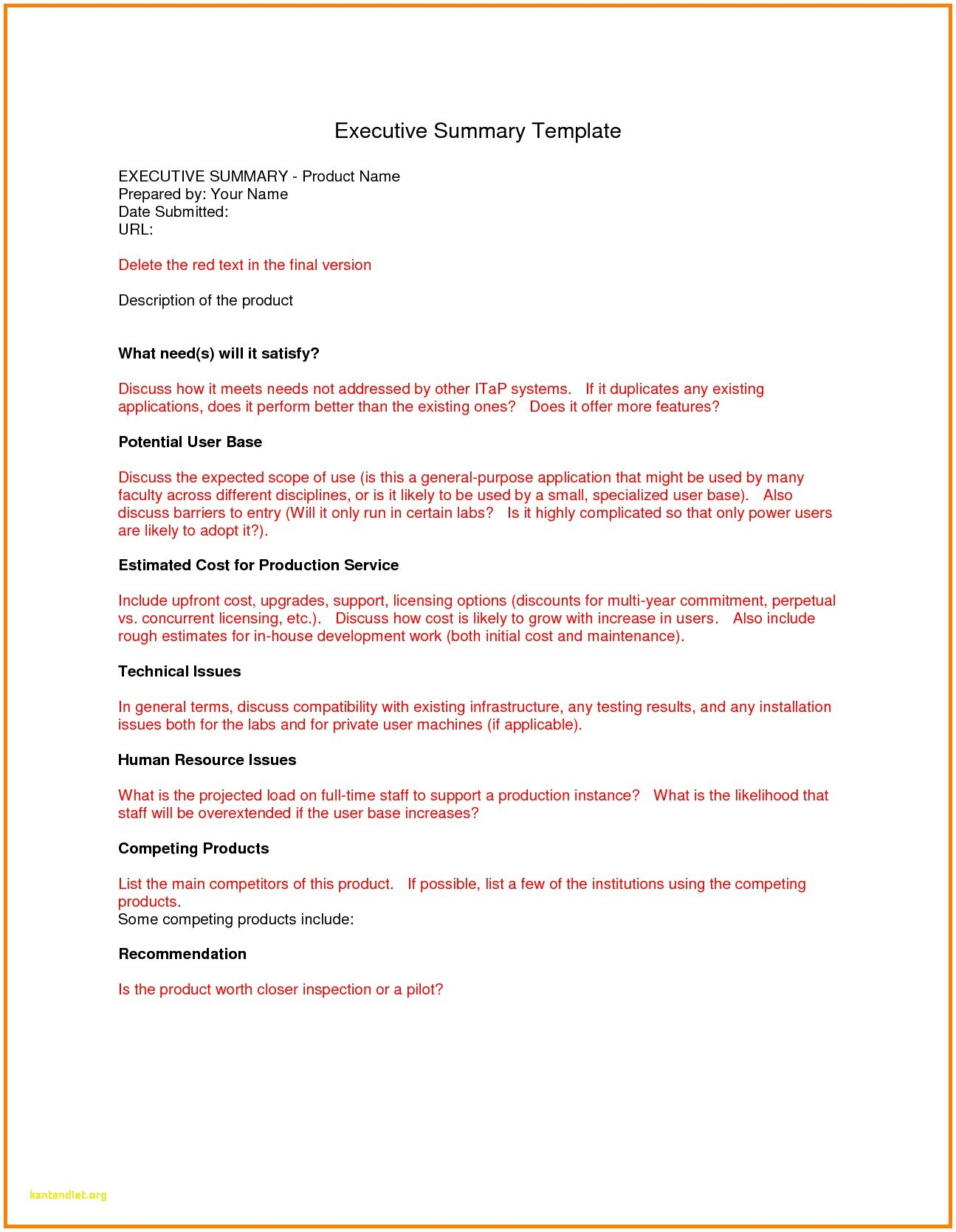 Ideas For Executive Summary Report Template Of Download  Wosing Pertaining To Executive Summary Report Template
