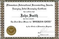 Ideas For First Place Award Certificate Template With Additional intended for First Place Award Certificate Template