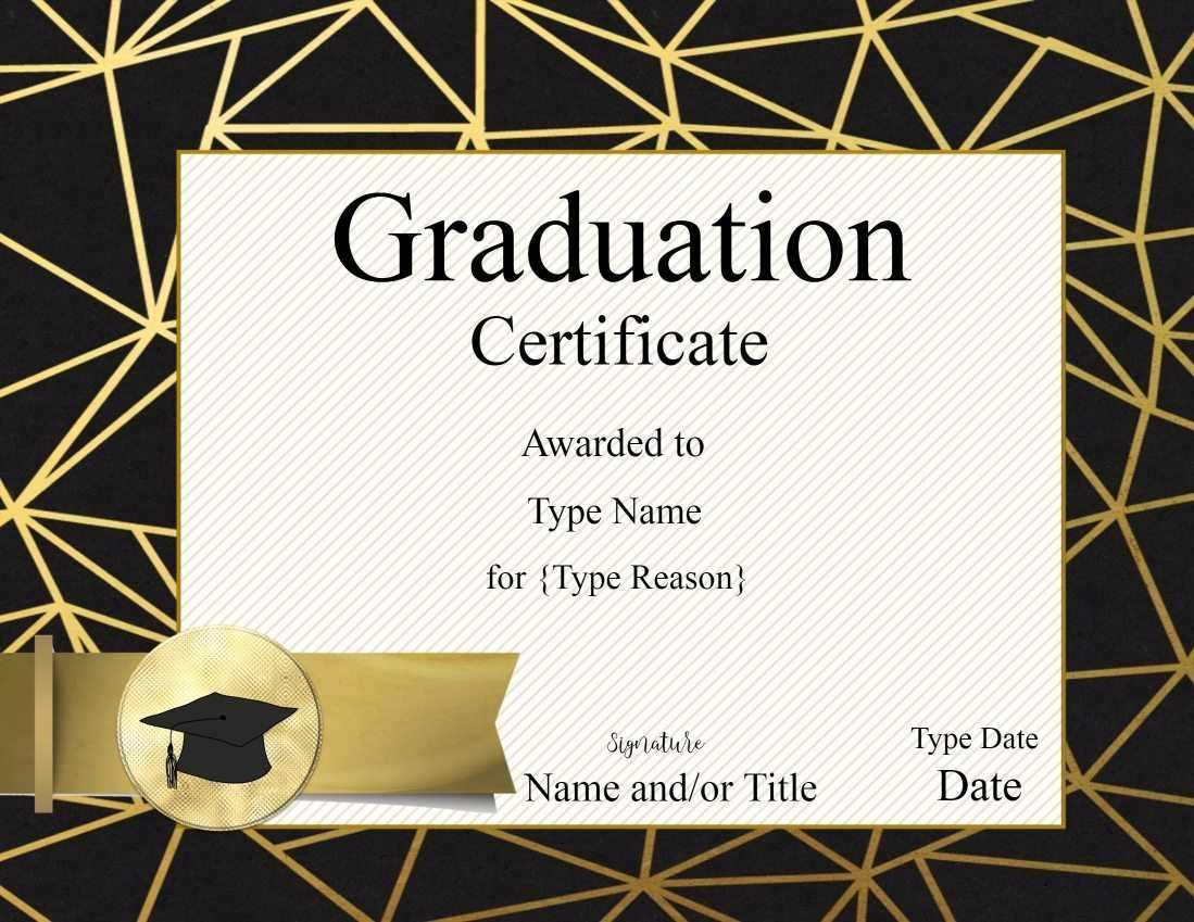 Ideas For Graduation Gift Certificate Template Free On Format Within Graduation Gift Certificate Template Free