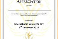 Ideas For Volunteer Award Certificate Template In Free  Bizoptimizer throughout Volunteer Award Certificate Template