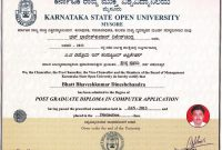 Iittsd Ksou Certificate Sample in Masters Degree Certificate Template