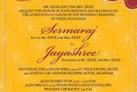 Image For Hindu Wedding Invitations Templates  Surender In in Invitation Cards Templates For Marriage