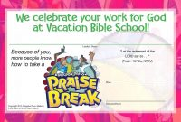 Image Result For Vbs Certificate  Free Templates  Vacation with regard to Vbs Certificate Template