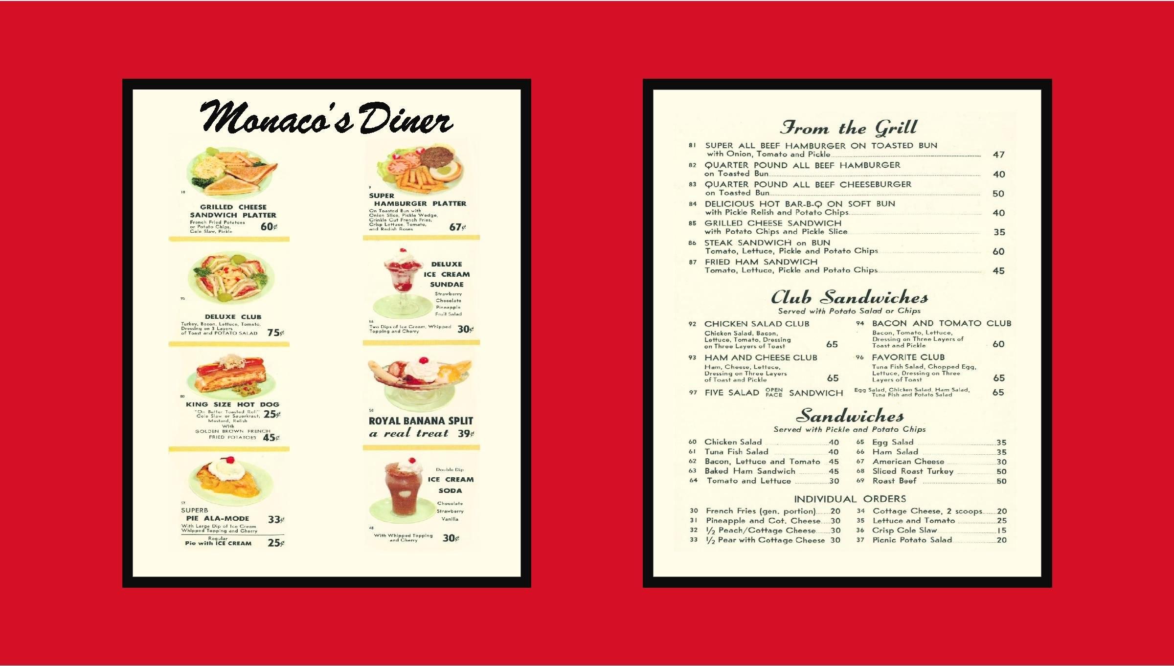 Images For  Diner Menu Template  Vintage Menus  Diner Menu Menu For Diner Menu Template