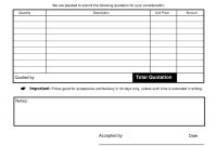 Images Of Blank Quote Template  Nategray regarding Blank Estimate Form Template