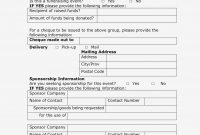 Images Of Event Sponsorship Form Template  Leseriail – Form with regard to Event Sponsorship Agreement Template