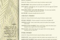 Images Of Hawaiian Food Menu Template  Unemeuf with Hawaiian Menu Template