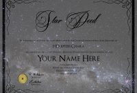 Images Of Name A Star Certificate Template  Bfegy with regard to Star Naming Certificate Template