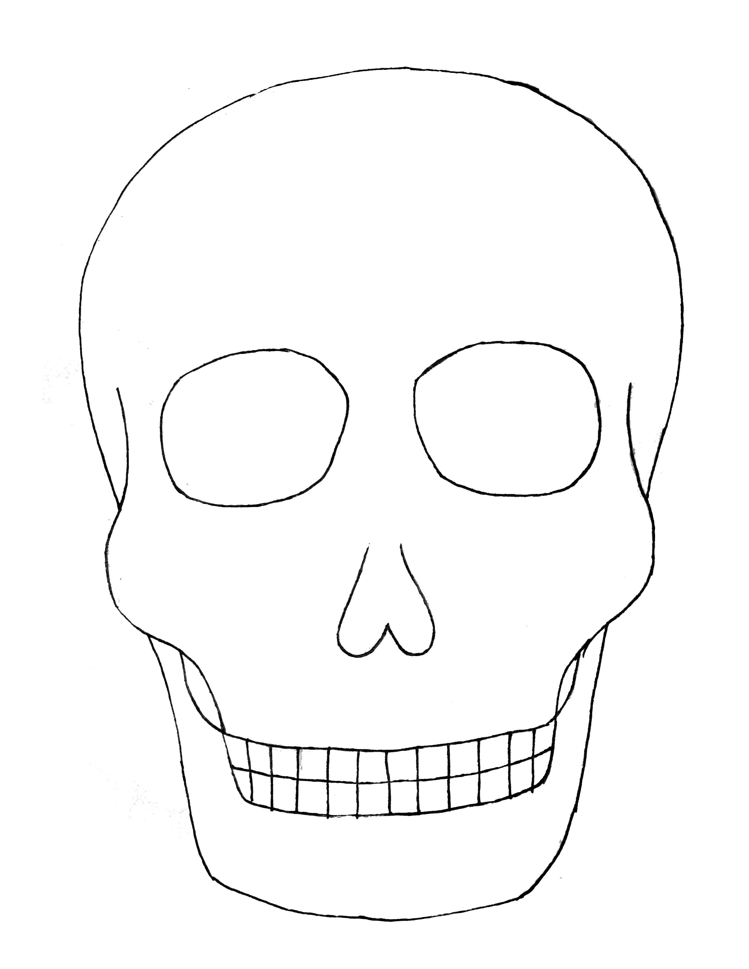 Images Of Sugar Skull Template Printable Blank  Unemeuf Regarding Blank Sugar Skull Template