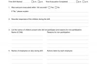 Images Of Tornado Drill Report Template  Bfegy in Emergency Drill Report Template