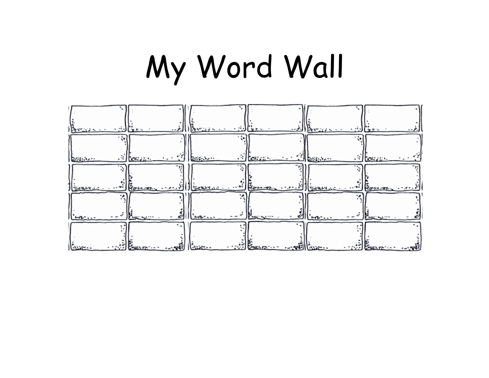 Images Of Wall Section Blank Template  Nategray Regarding Blank Word Wall Template Free