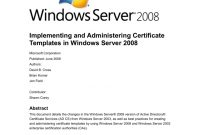 Implementing And Administering Certificate Templates with regard to Active Directory Certificate Templates