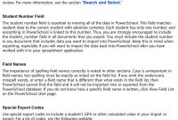 Import And Export User Guide Powerschool Student Information System for Powerschool Reports Templates