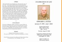 In Memoriam Cards Template Free Celebration Of Life Program for Remembrance Cards Template Free