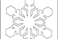 Inch Snowflake Templateprintable Snowflakewinter  Etsy within Blank Snowflake Template