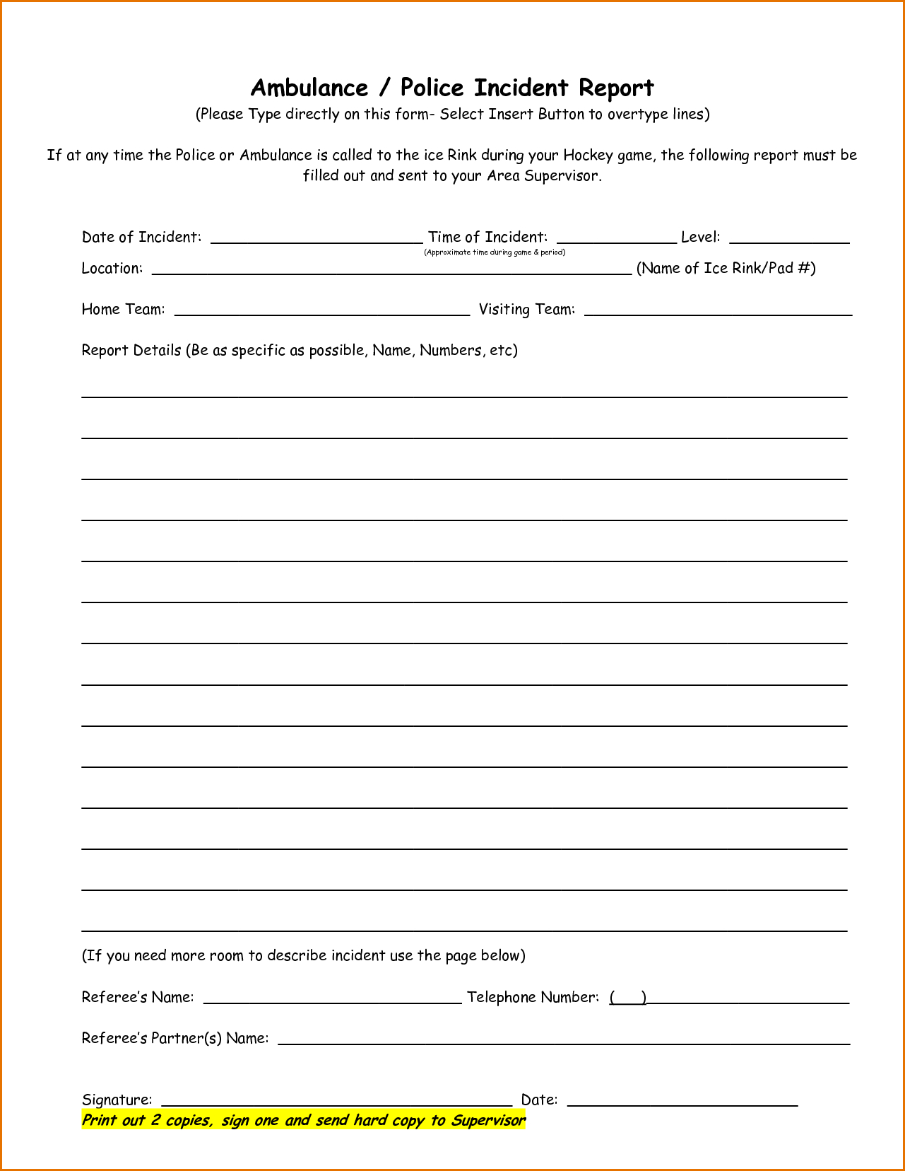 Incident Report Template Form Word Rare Ideas General Uk Regarding Incident Report Form Template Word