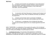 Independent Contractor Noncompete Agreement Template  Eforms with regard to Standard Non Compete Agreement Template
