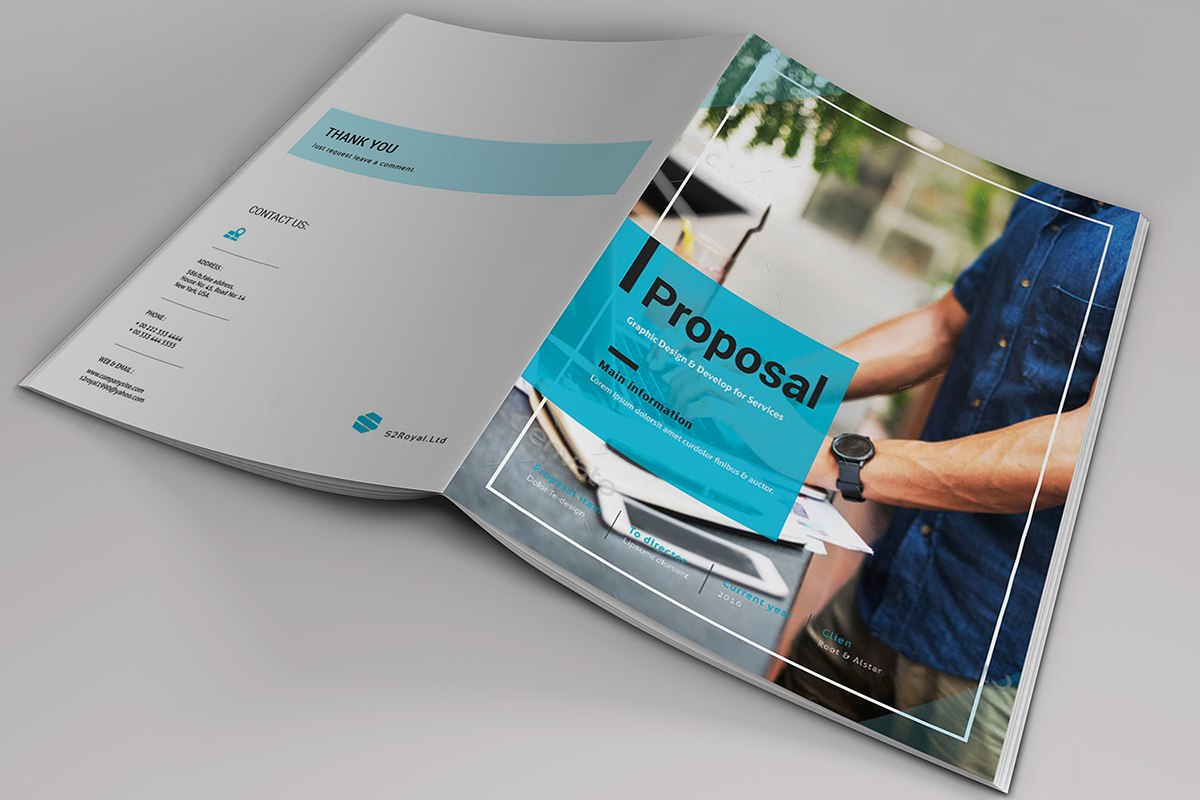 Indesign Business Proposal Template On Behance Inside Business Proposal Indesign Template