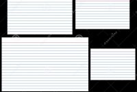 Index Cards Stock Vector Illustration Of Stationery Lined for 4X6 Note Card Template