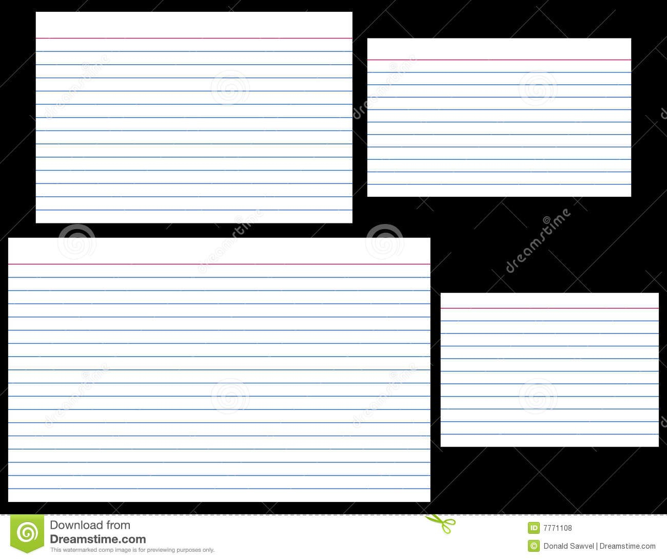 Index Cards Stock Vector Illustration Of Stationery Lined For 5 By 8 Index Card Template