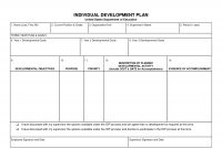 Individual Development Plan Template Word  Google Search in Business Development Template Action Plan