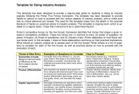 Industry Analysis Examples  Pdf  Examples with Industry Analysis Report Template