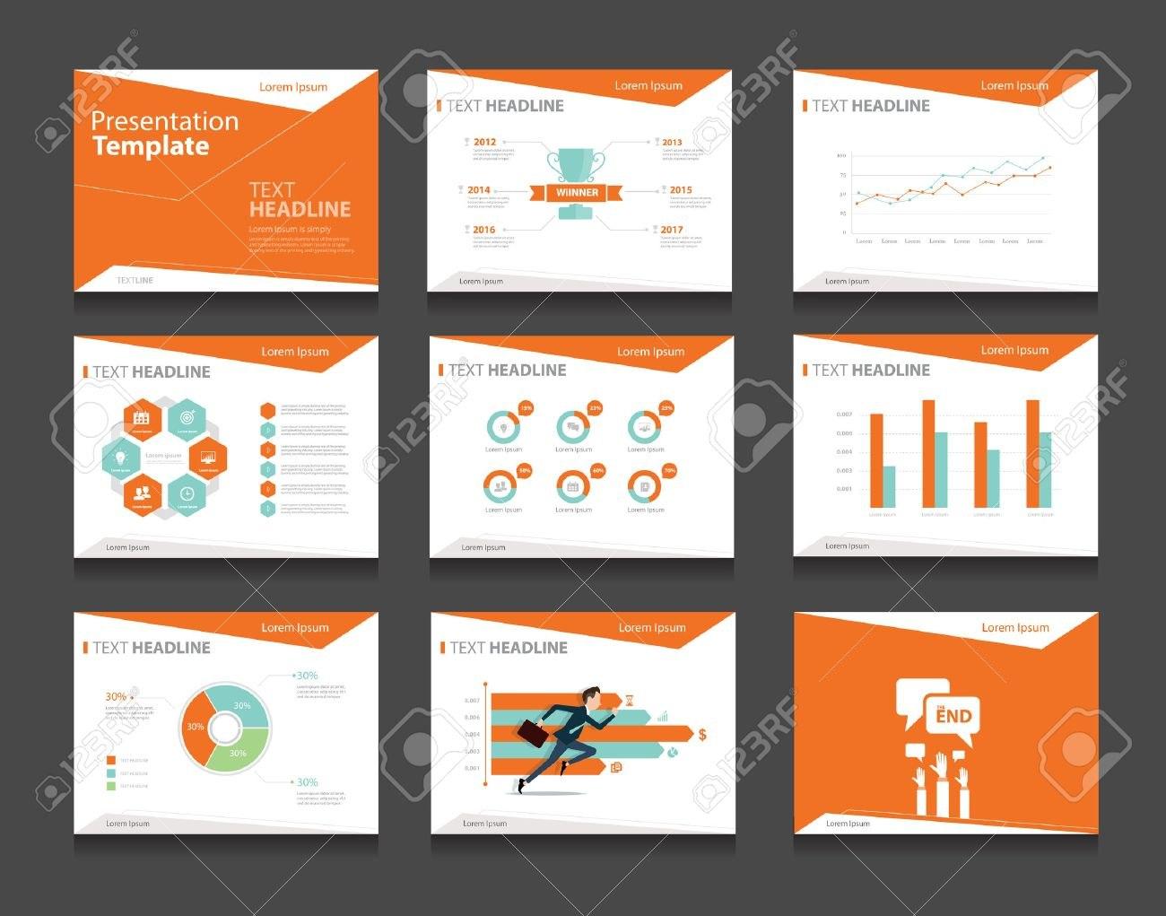 Infografik Orange Business Präsentationsvorlage Setpowerpoint Pertaining To How To Design A Powerpoint Template