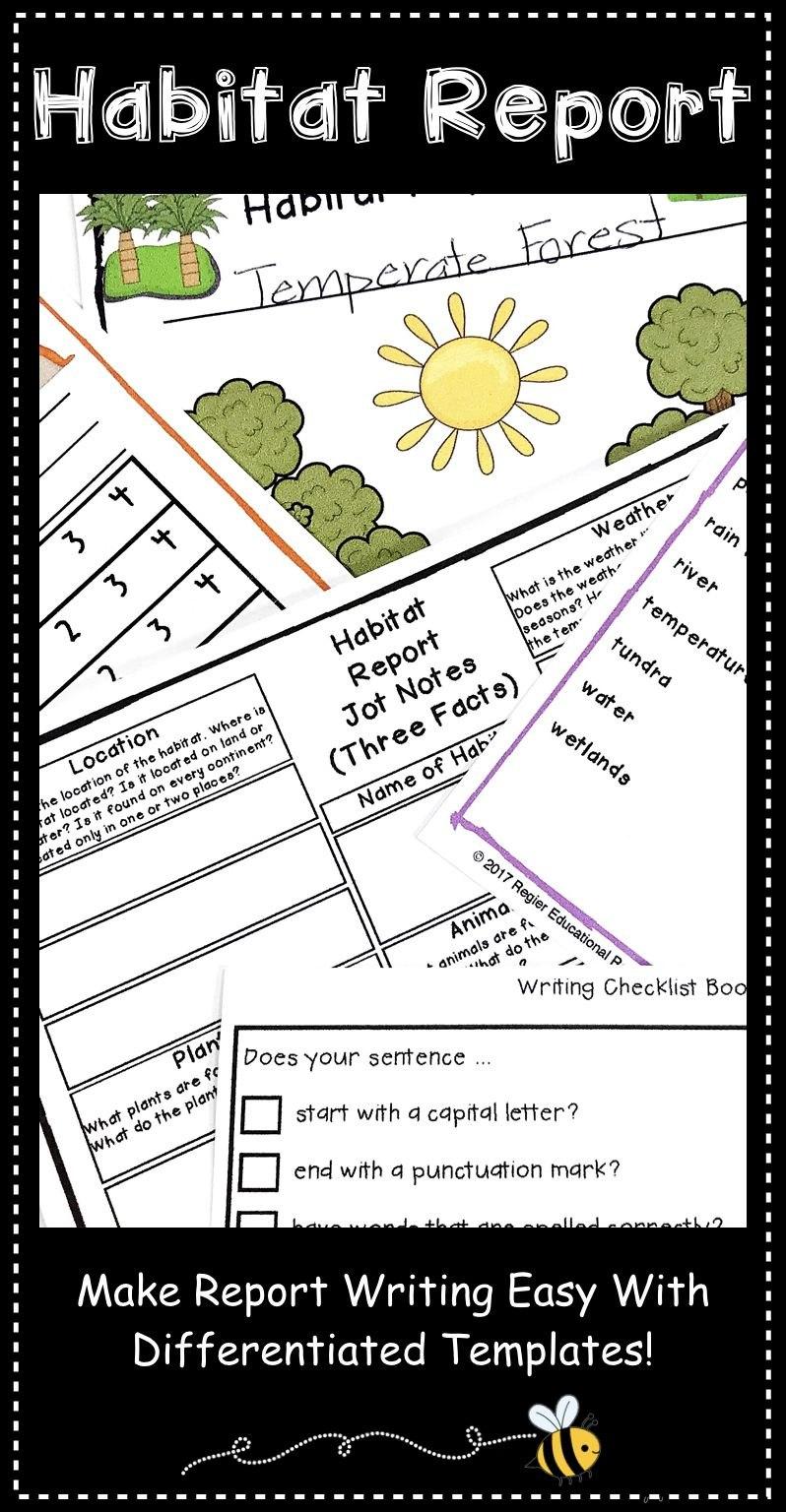 Informative Writing Templates  Habitat Research  Habitat With Research Project Report Template