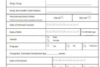 Informed Consent Form Case Report The History Of Informed  Saoirse within Case Report Form Template