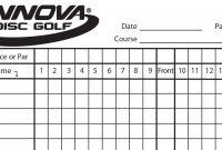 Innova Scorecard  Innova Disc Golf inside Golf Score Cards Template