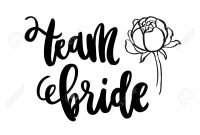 Inscription Team Bride And Peony Flower Handdrawing Of Ink On pertaining to Bride To Be Banner Template