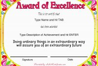 Inspirational Award Certificate Template Free  Best Of Template intended for Free Funny Award Certificate Templates For Word