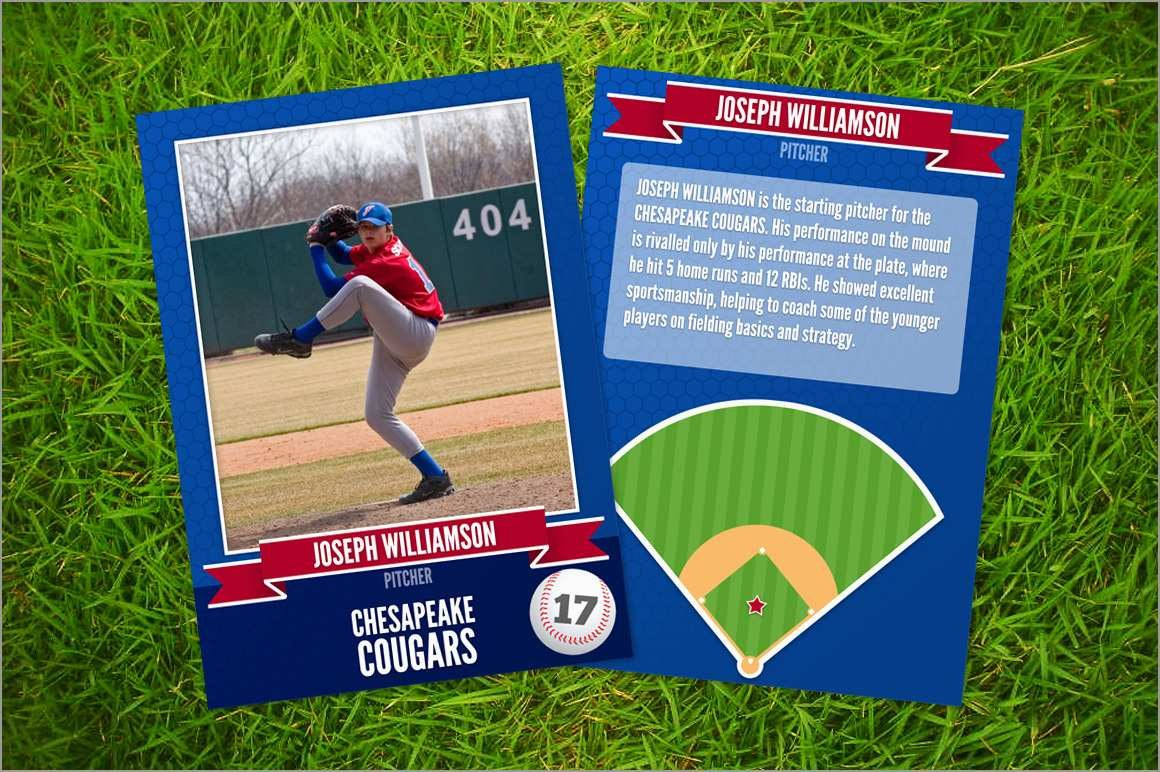 Inspirational Baseball Card Template Photoshop Free  Best Of Template Throughout Free Sports Card Template
