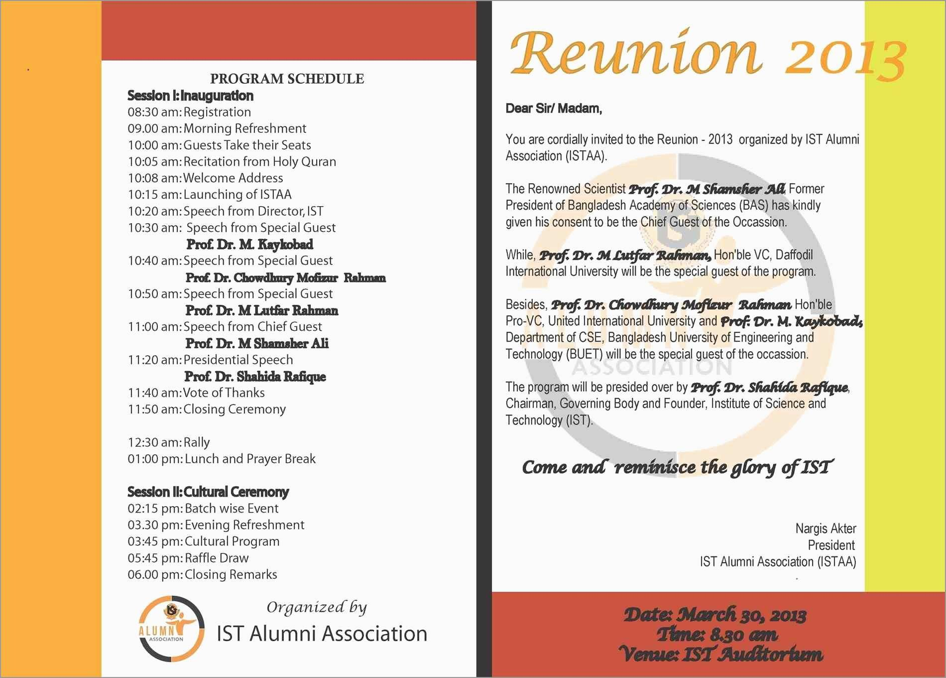 Inspirational Class Reunion Invitation Templates Free  Best Of Template Throughout Reunion Invitation Card Templates