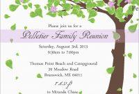Inspirational Family Reunion Invitation Templates Free  Best Of inside Reunion Invitation Card Templates