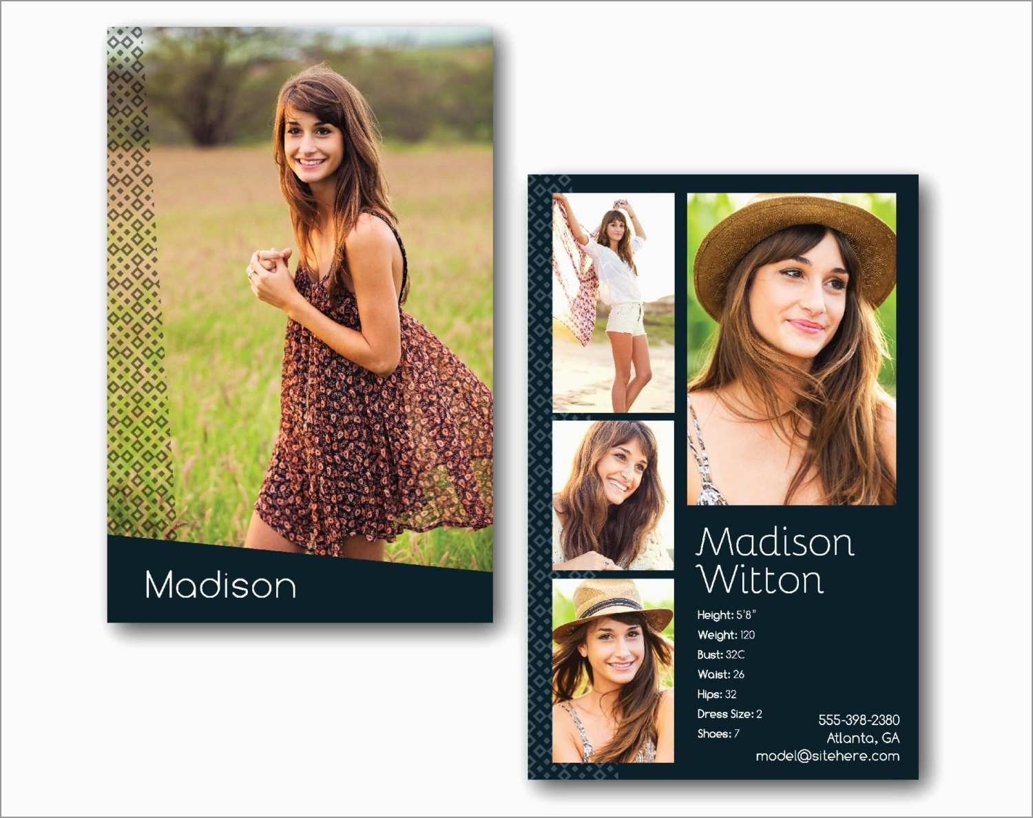 Inspirational Free Comp Card Template  Best Of Template Within Zed Card Template
