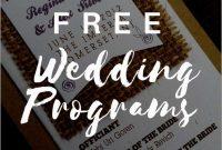 Inspirational Free Printable Wedding Program Templates Word  Best for Free Printable Wedding Program Templates Word