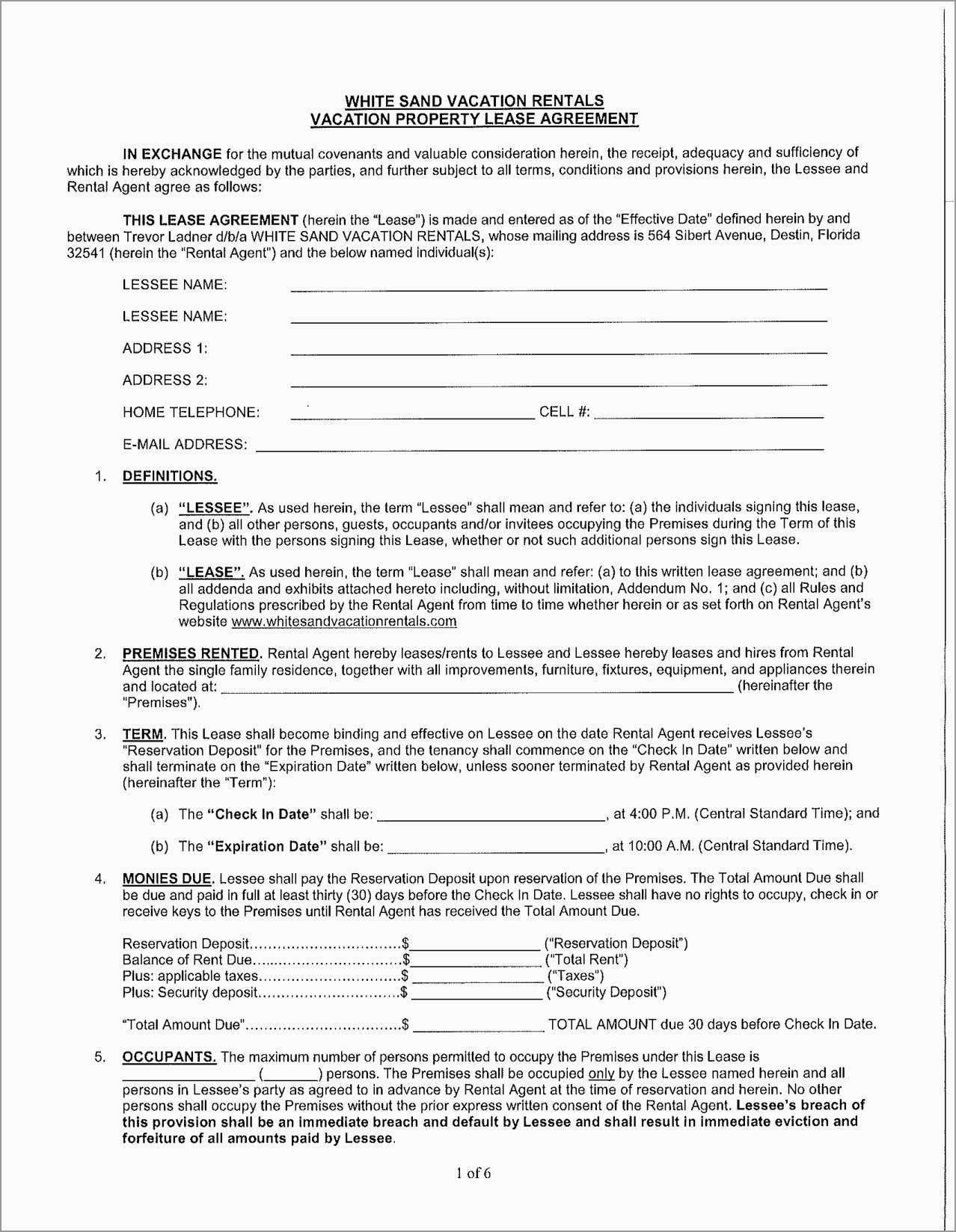 Inspirational Free Vacation Rental Agreement Template  Best Of Template In Vacation Home Rental Agreement Template