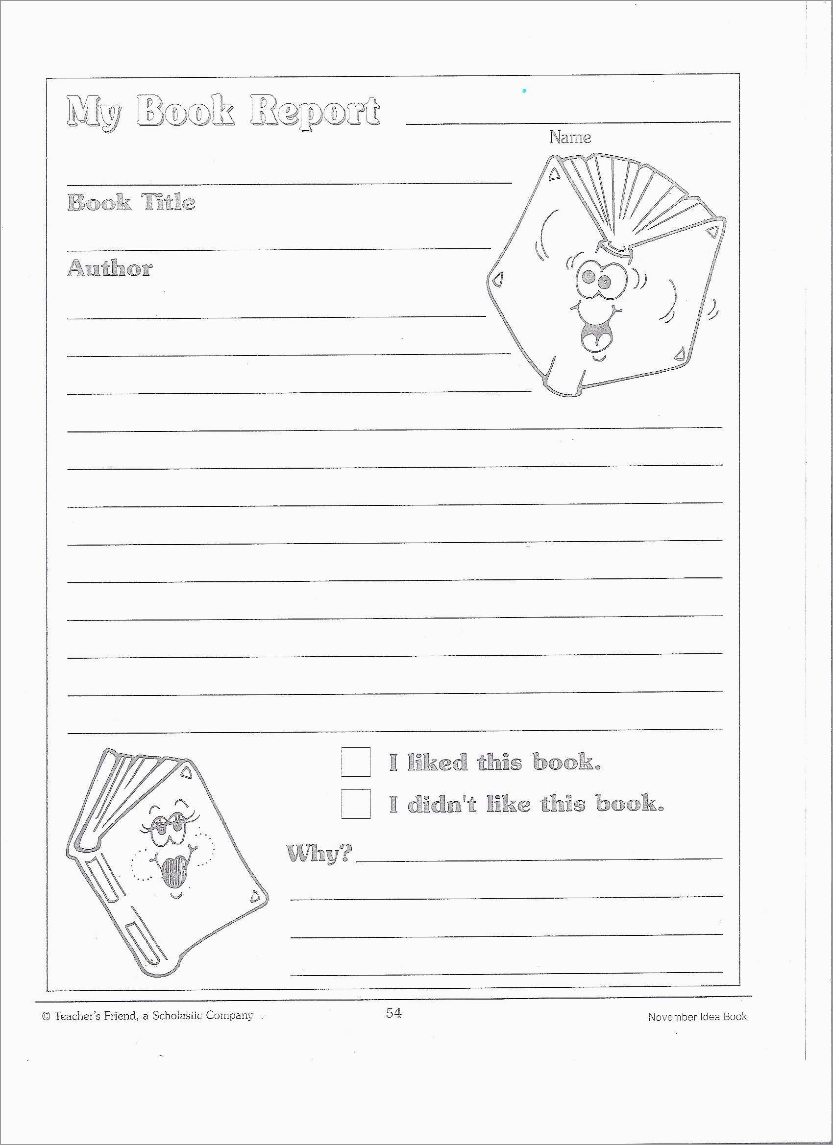 Inspirational Nd Grade Book Report Template Free  Best Of Template Throughout Second Grade Book Report Template