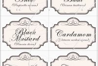 Inspirational Spice Jar Label Template Free  Best Of Template with regard to Free Printable Vintage Label Templates