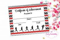 Instant Download  Cross Country Certificate  Track And Field  Running  Certificate  Jogathon Printable  Running Achievement within Track And Field Certificate Templates Free