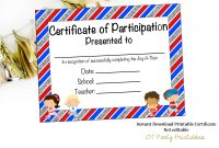 Instant Download Fun Run Certificate Jog A Thon Award  Etsy within Borderless Certificate Templates