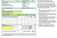 International Shipping And The Commercial Invoice No Commercial regarding International Shipping Invoice Template