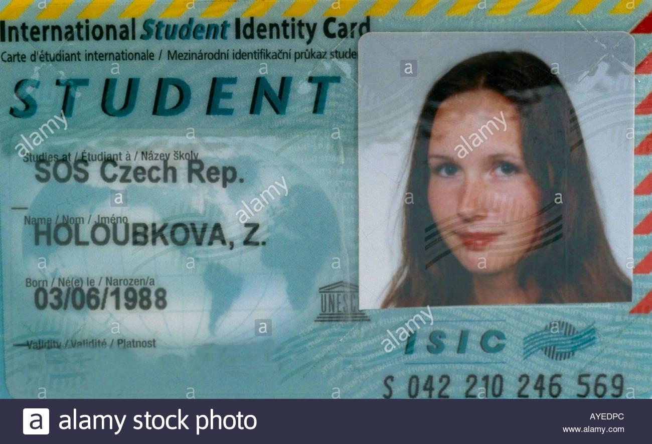 International Student Card Stock Photos  International Student Card With Regard To Isic Card Template