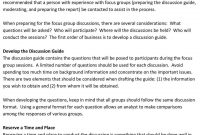 Introduction Qualitative Data Collection Methods  In Depth in Focus Group Discussion Report Template